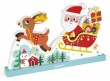 Janod Santa's Sleigh Magnetic Vertical Puzzle