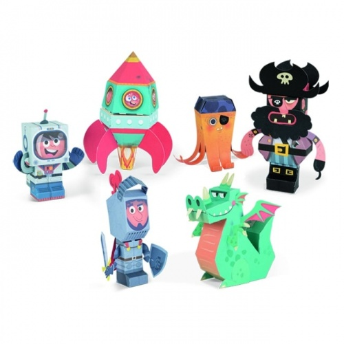 Janod Boys Paper Toys Characters