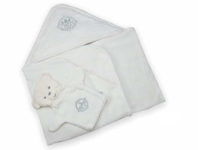 Kaloo Bath Towel with Wash Mitts