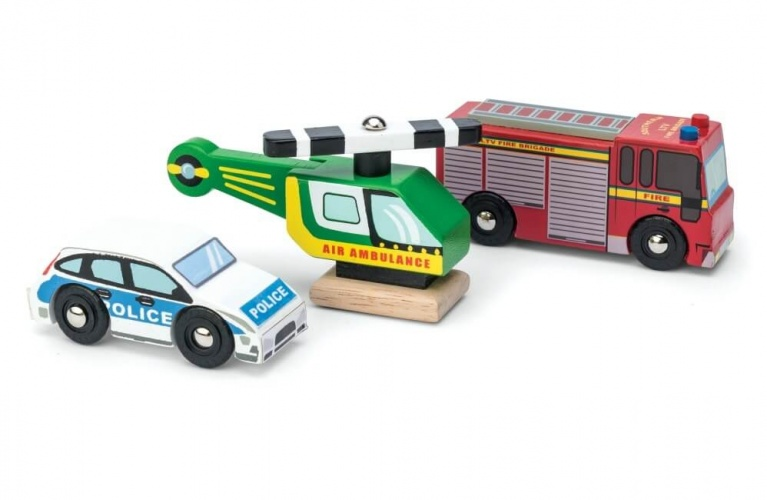 Le Toy Van Emergency Vehicles - Set -