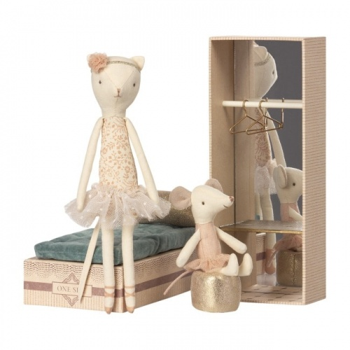 Maileg Dancing Cat & Mouse Shoebox