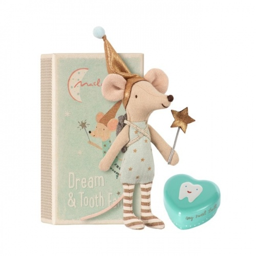 Maileg Mouse Tooth Fairy - Boy With Metal Heart
