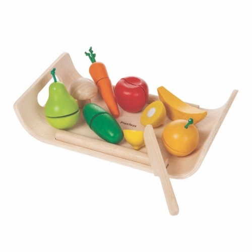 Plan Toys Assorted Fruit & Vegetable Tray