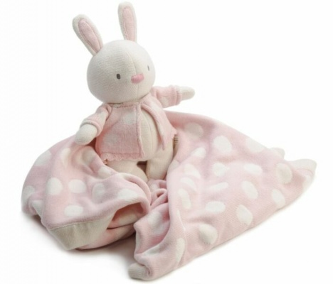 Ragtales Knitted Pink Rabbit