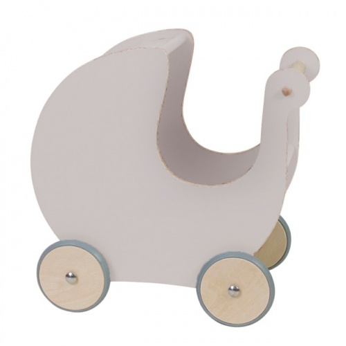 Sebra Wooden Dolls Pram - Dusty Pink