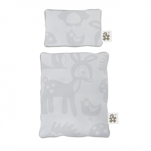 Sebra Dolls Bed Linen In Forest Grey