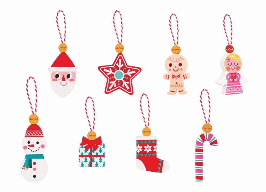 Janod 8 Christmas Ornaments