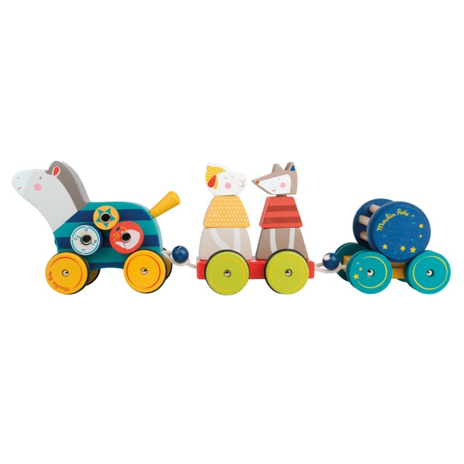 Moulin Roty Pull Along Activity Horse