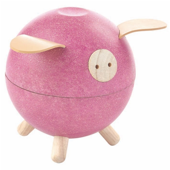 Plan Toys Pink Piggy Bank