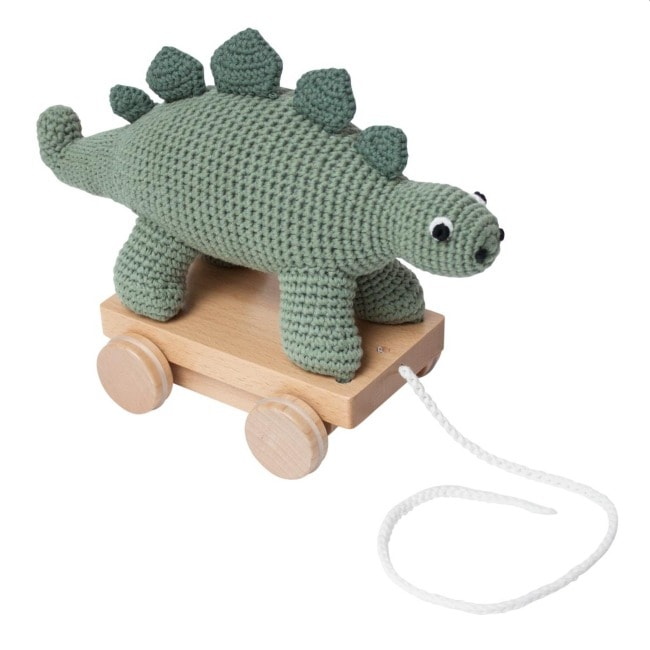 Sebra Crochet Pull Along Dino Toy