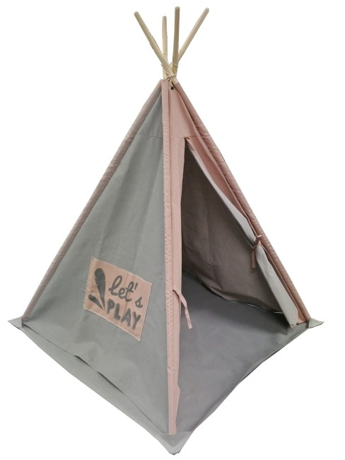 Teepee In Pink & Grey